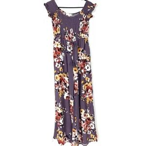 Band of Gypsies Floral Jumpsuit Large Wide Leg